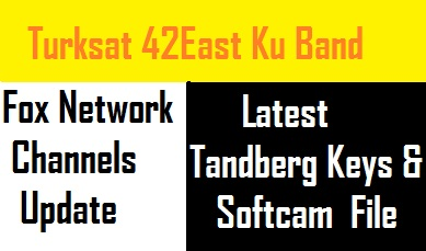 Turksat 42E Tandberg Keys and Fox Network Channels List