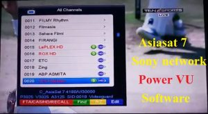 Latest sony network power vu software for Starsat satellite receiver: