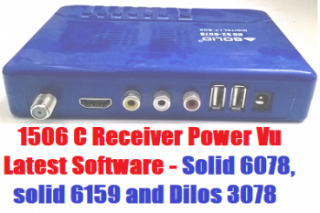 1506C Receiver Software For Solid 6078, solid 6159 And Dilos 3018