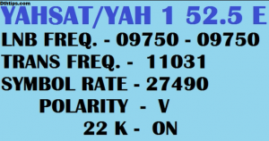 Yahsat 52.5 east Strong frequency Mpeg 2