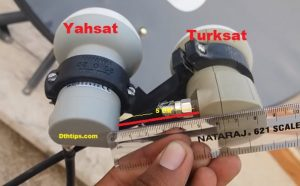Yahsat and Turksat dish setting on 2 feet single dish antenna