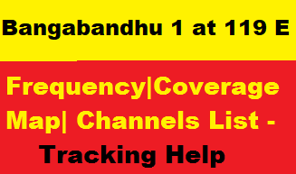 Bangabandhu 1 at 119.1°E dish tracking| Frequency|Coverage map |Channels list