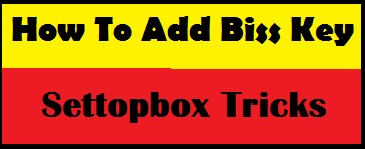 how to add biss key in solid 6141 set top box