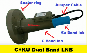 how to use C+Ku dual band lnb in one dish