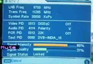 ren tv channel frequency in india
